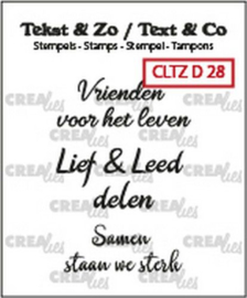Crealies Tekst & Zo clear stamp - divers 28 (NL)