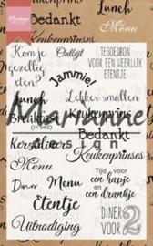 Marianne D Clear Stamp Menu - teksten  (NL)