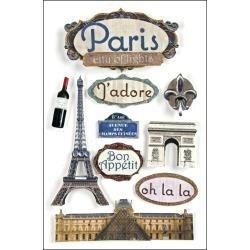 Paris - Scrapbook 3d Stickers