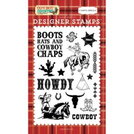 Howdy Cowboy stempels (10x15 cm)