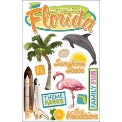 Sunshine State Florida - Paper house 3d scrapbook en plakboek stickers