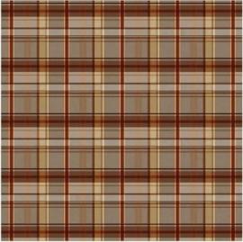 Geruite deken - bruin kleed papier 30.5 x 30.5 cm