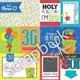 30 geworden! - scrapbookpapier - 30.5x30.5 cm