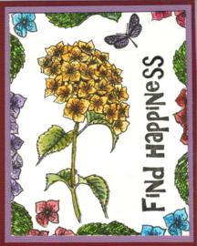 Hortensia bloemen clear stempels A5 clear stempel set 15 x 20 cm