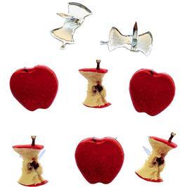 Appel met klokhuis -  splitpen decoratie - zakje 12 stuks