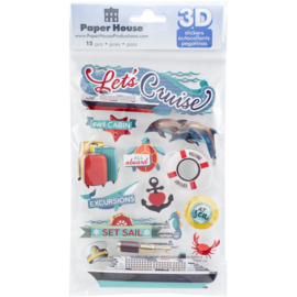 3d decoratie stickers Let's Cruise