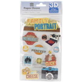 Family Portrait - 3D pop up stickers