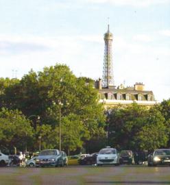 Place d'Etoile met Eiffeltoren -  papier 30.5 x 30.5 cm