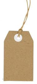 Kraft Tags - mini Labels - 30 x 50 mm - 25 stuks