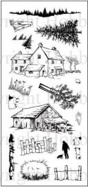 Old Barn clear stamps