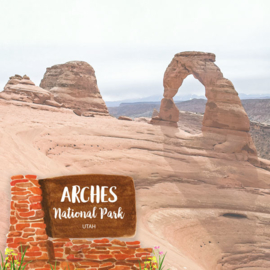 Arches National Park / Utah - scrapbook customs - dubbelzijdig 12x12 inch