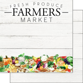 Fresh Produce Farmers Market 12 x 12 inch