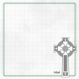 Celtic Cross Adventure  - dubbelzijdig scrapbook papier
