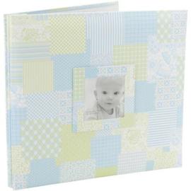 MBI babyalbum patchwork blauw