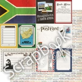 South Africa - DS Journal 12x12 scrapbookpapier
