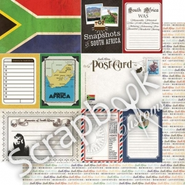 South Africa - DS Journal 12x12 scrapbookpapier