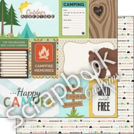 Scrapbook Customs paper - Outdoor Adventure Collection - 12x12 inch dubbelzijdig papier