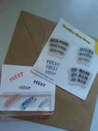 Feest Clear stempel