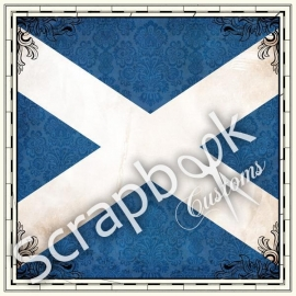 Scotland Sightseeing Flag - papier 30.5 x 30.5 centimeter