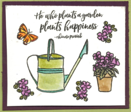 In the Garden - A5 clear stempel set 15 x 20 cm