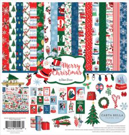 Scrapbook papier - Merry Christmas / Kerst  knutselpakket 12x12 inch (13-delig)