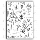 Kerst stempels Snowy Wishes  A5 clear stempel set 15 x 20 cm
