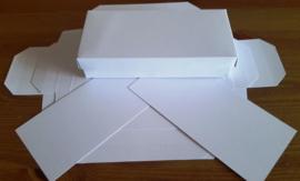 Kado doosje - wit karton - rechthoek model met deksel -  15 stuks - 7x15 cm