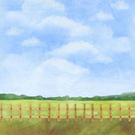 Varkens /  Pigs - watercolor - 30.5x30.5 cm - scrapbookpapier