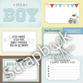 Baby Boy Journal Cards - scrapbookpapier - 30.5 x 30.5 cm