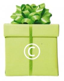 Groene kadodoos - stans decoratie - 5.5x7