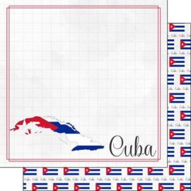 Cuba - Adventure border - dubbelzijdig papier - 30.5 x 30.5 cm