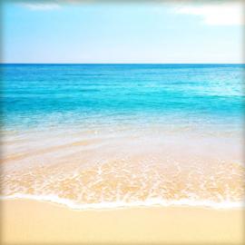 Tropical Beach links & rechts 30.5x30.5 centimeter papier