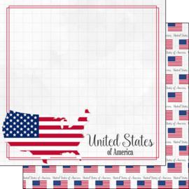 United States of America - Adventure Border - scrapbook papier