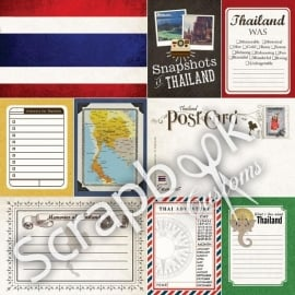 Thailand papier voor scrapbooking - 30.5 x 30.5 cm