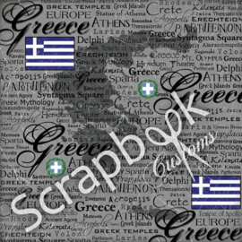 Greece - Scratchy - thema papier 30.5 x 30.5 cm