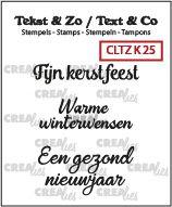 Crealies Tekst & Zo clear stamp - Kerst 25 (NL)