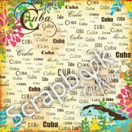 Cuba Paradise Paper - scrapbookpapier - 30.5 x 30.5 centimeter