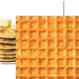 Wafel papier - Breakfast Club Double dubbelzijdig 12 x 12 inch - Hot Off The Griddle
