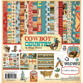 Cowboy country scrapbook pakket