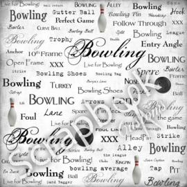Bowling Scrapbook papier