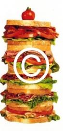 Mega Sandwich - stans decoratie - 6x10 cm