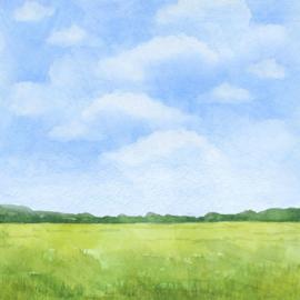 Konijnen / Rabbits -  watercolor - 30.5x30.5 cm - scrapbookpapier