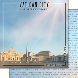 Rome - Vatican City / St. Peter's Square - scrapbook papier