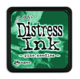 Mini  Distress inkt - Pine Needles - waterbased dye ink / inkt op waterbasis - 3x3 cm