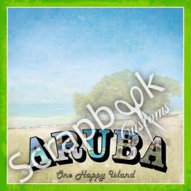 Aruba Paradise vintage scrapbookpapier - 30.5x30.5 centimeter