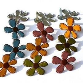 Decoratieve splitpen thema herfst bloemen 12 stuks