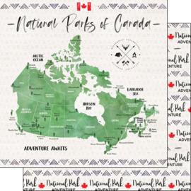 National Parks of Canada - dubbelzijdig scrapbook papier