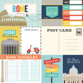 Rome Memories Journal - scrapbook papier