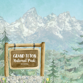 Grand Teton National Park / Wyoming - scrapbook customs - 12x12 inch