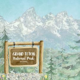 Grand Teton National Park / Wyoming - dubbelzijdig scrapbook papier - 12x12 inch